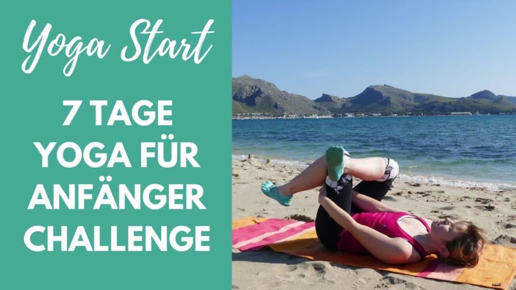 7 Tgae Yoga für Anfänger Challenge