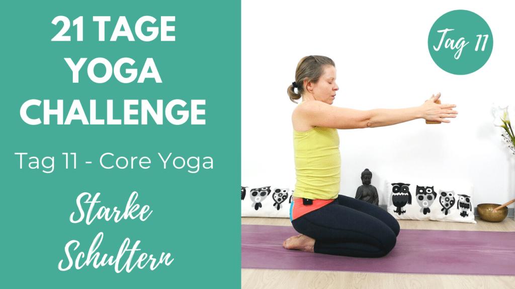 Core Yoga für starke Schultern | 21 Tage Yoga Challenge