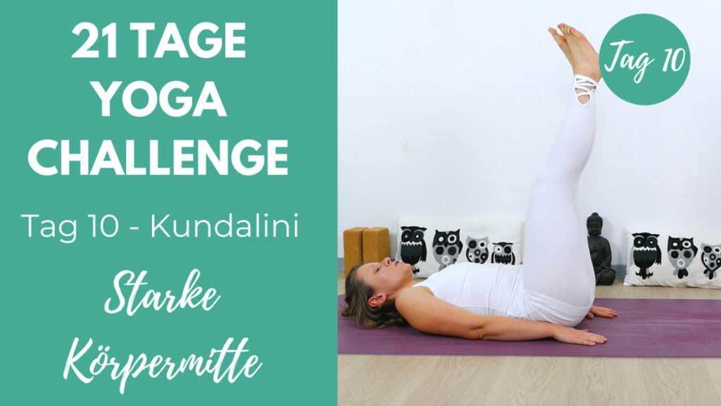 Kundalini Core Work starke Körpermitte | 21 Tage Yoga Challenge