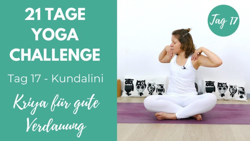 Kundalini Kriya für eine gute Verdauung | 21 Tage Challenge
