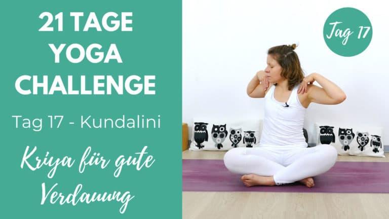 Kundalini Kriya für eine gute Verdauung   21 Tage Challenge