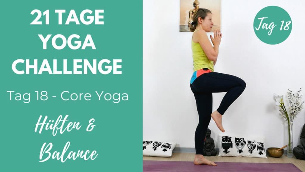 Core Yoga für Hüften & Balance | 21 Tage Yoga Challenge