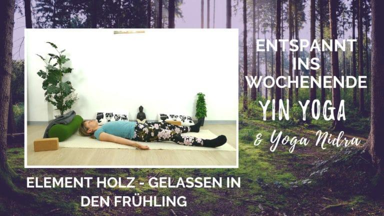 Yin Yoga und Yoga Nidra für das Element Holz – Gelassen in den Frühling