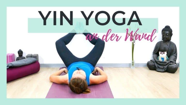 Yin Yoga an der Wand