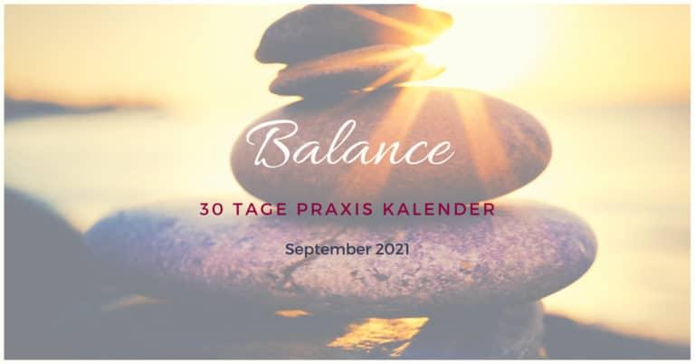 Kalender September 2021 Balance