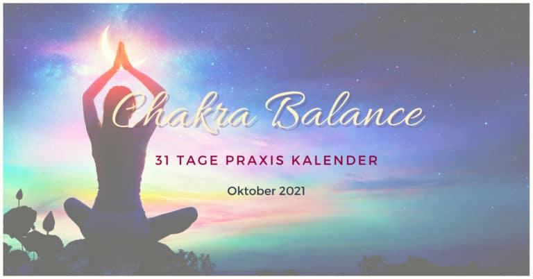 Chakra Balance Kalender Oktober 2021